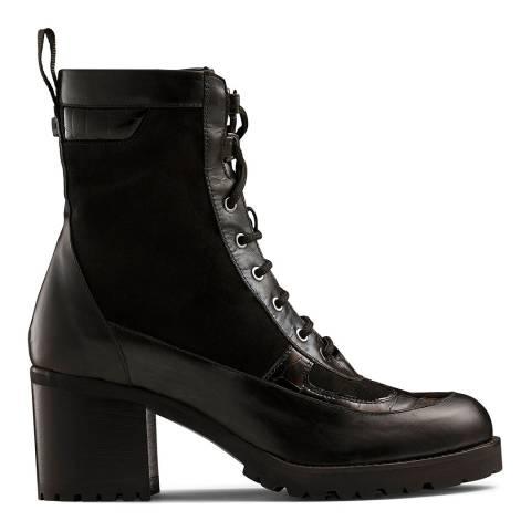 Russell & Bromley Brown Suede Nevada Block Heel Boots