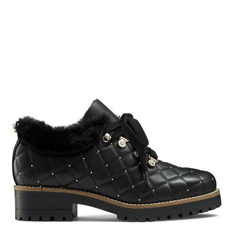 Russell & Bromley Black Leather Icequeen Hiker Boots