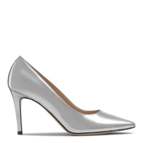 Russell & Bromley Silver Mirrored 85 Stiletto Pumps