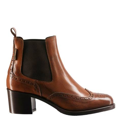 Russell & Bromley Brown Leather Cavendish Chelsea Boots