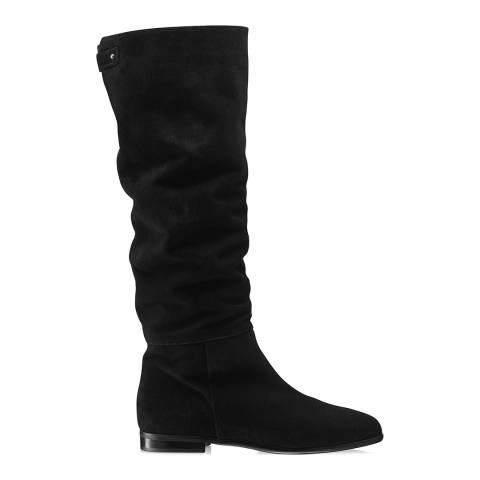 Russell & Bromley Black Suede Soft Touch Knee High Boot