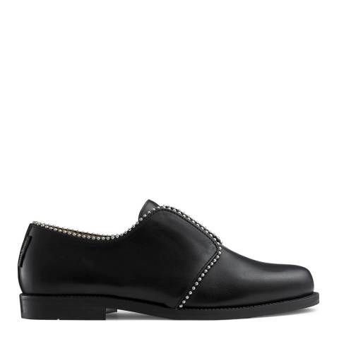 Russell & Bromley Black Leather Geometry Slip On Shoes