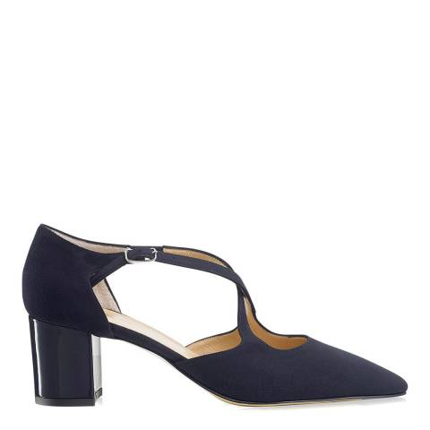 Russell & Bromley Navy Suede Xtra Crossover Court Shoes
