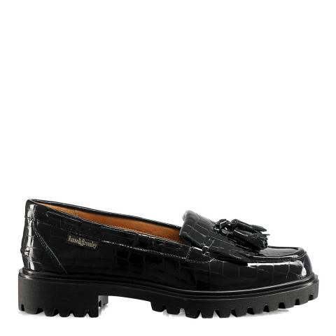 Russell & Bromley Black Leather Winchester Loafers