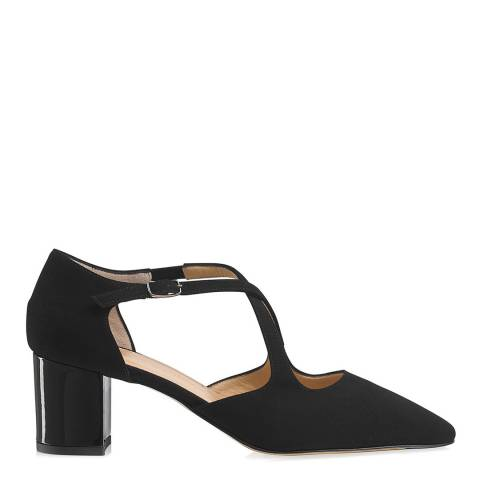 Russell & Bromley Black Suede Xtra Crossover Court Shoes