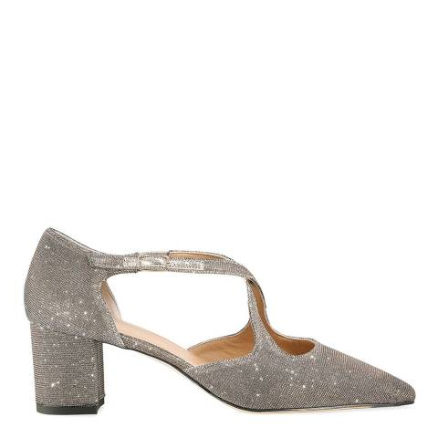 Russell & Bromley Silver Metallic Xtra Crossover Court Shoes