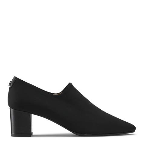 Russell & Bromley Black Infuse Block Heel Court Shoes