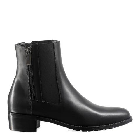 Russell & Bromley Black Leather Ode Dry Zip Chelsea Boot