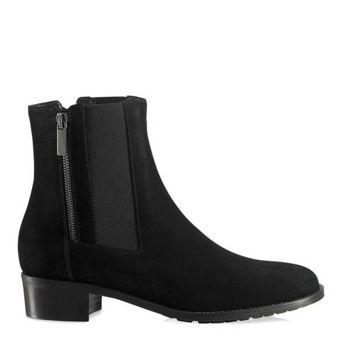 Russell & Bromley Black Suede Ode Dry Zip Chelsea Boot