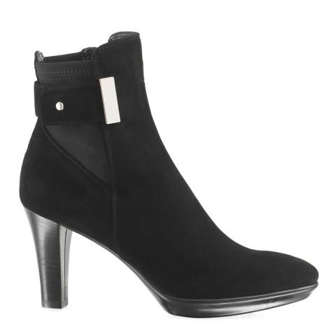 Russell & Bromley Black Suede Ruby Dry Platform Ankle Boot