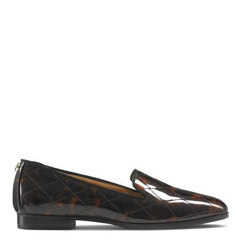 Russell & Bromley Tortoise Patent Smoking Loafer