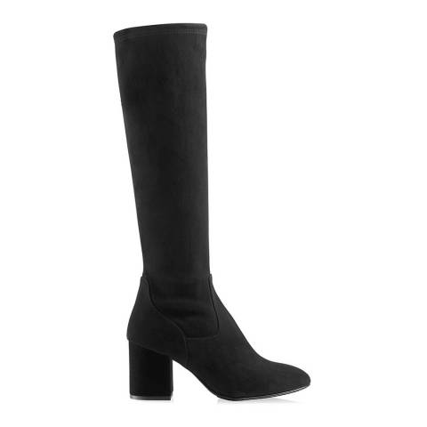 Russell & Bromley Black Suede Fulstret Stretch Knee High Boot