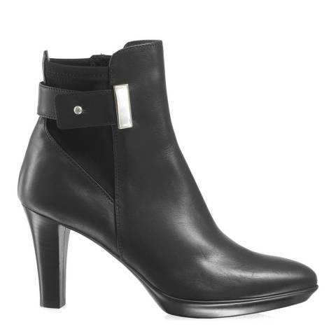 Russell & Bromley Black Leather Ruby Dry Platform Ankle Boots