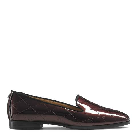 Russell & Bromley Dark Red Patent Smoking Loafers