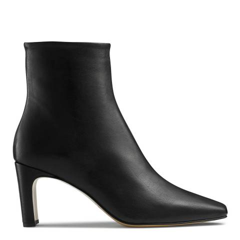 Russell & Bromley Black Leather Desire Blade Heeled Ankle Boot