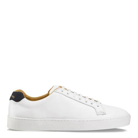 Russell & Bromley White Leather Park Run Low Top Sneaker