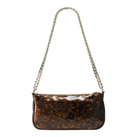 Russell & Bromley Tortoise Leather Cher Chain Baguette Bag