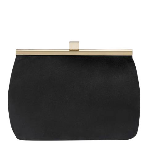 Russell & Bromley Black Suede Lady Mini Clutch