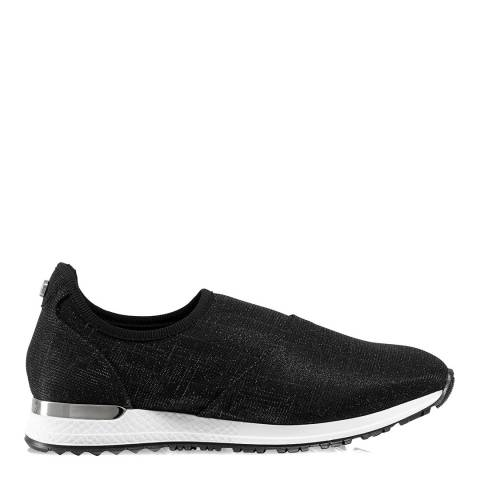 Russell & Bromley Black Suede Stretch out Slip On Sneaker
