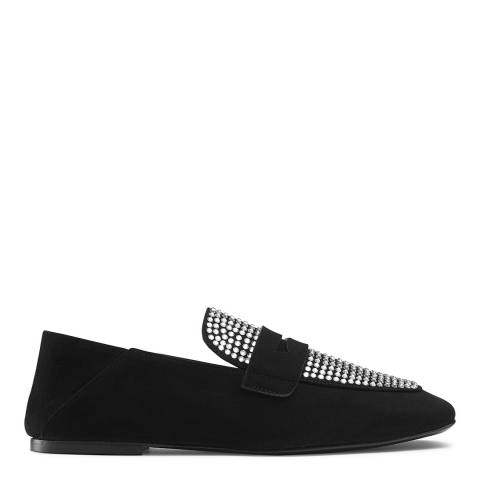 Russell & Bromley Black Suede Jazzie Slip On Shoes