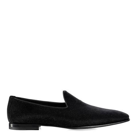 Russell & Bromley Black Baron Luxury Slip On