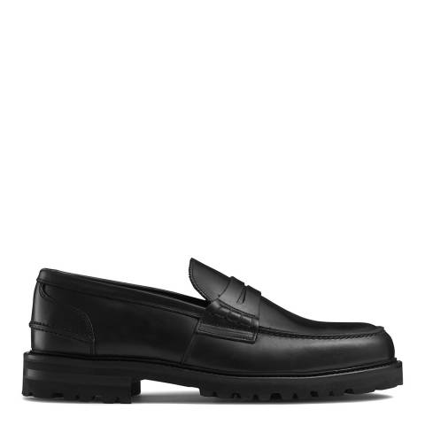Russell & Bromley Black Arnside Cleated Sole Loafer