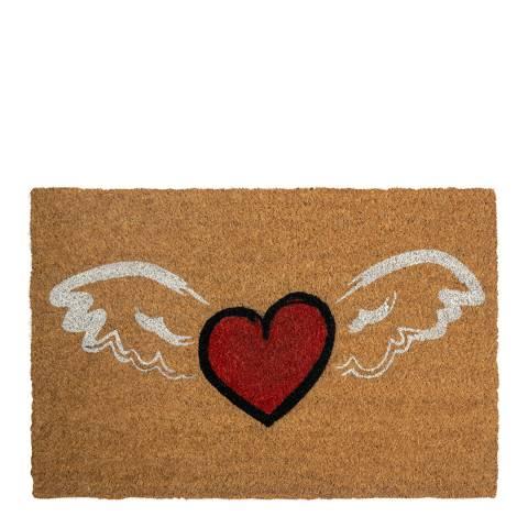 Entryways Winged Heart Coir Doormat 40x60cm