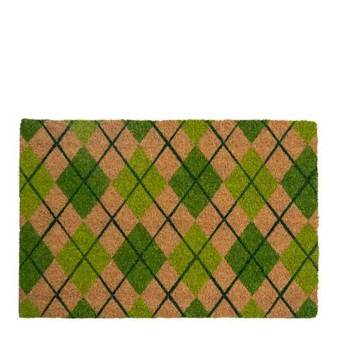 Entryways Argyle Coir Doormat 40x60cm