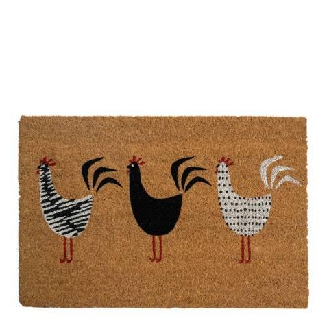 Entryways Roosters Coir Doormat 40x60cm