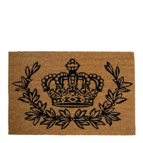 Entryways Crown and Wreath Coir Doormat 40x60cm