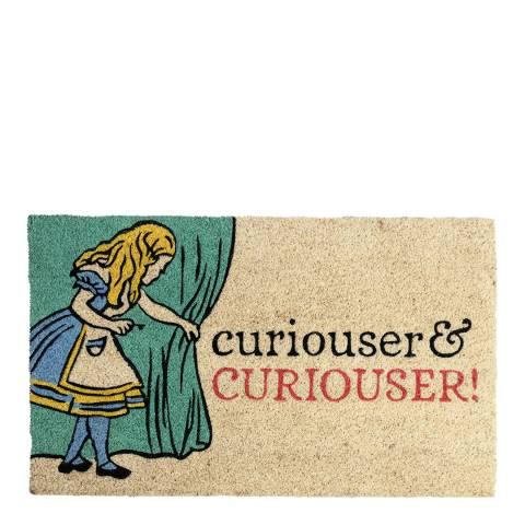 Entryways V&A Museum Curiouser and Curiouser Coir Doormat 45x75cm