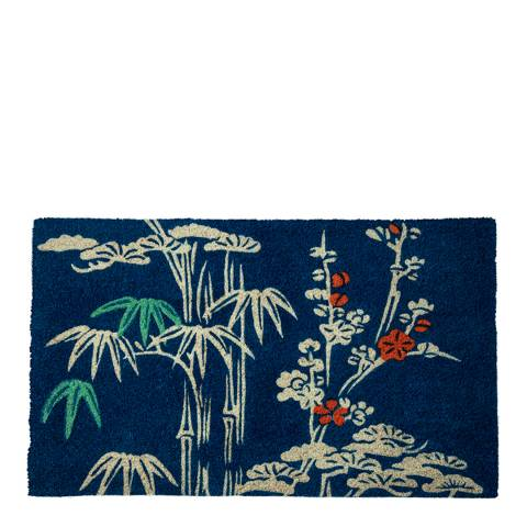 Entryways V&A Museum Bamboo and Blossom Coir Doormat 45x75cm