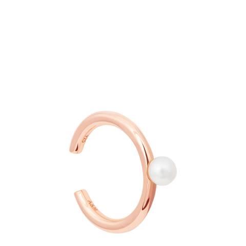 Astrid & Miyu Rose Gold Pearl Ear Cuff
