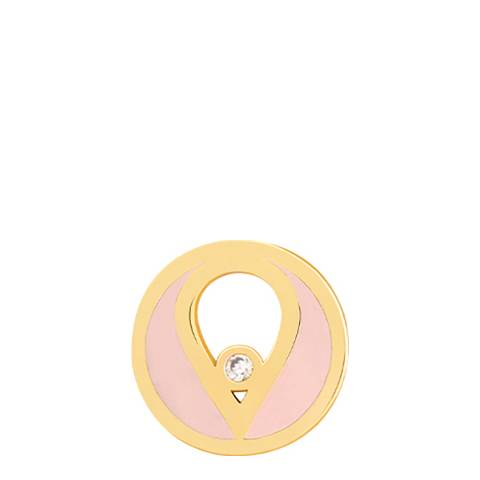 Astrid & Miyu Gold Round Enamel Earring Charm