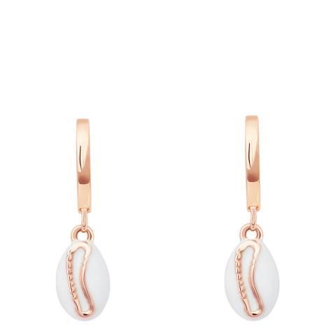 Astrid & Miyu Rose Gold Shell Huggies