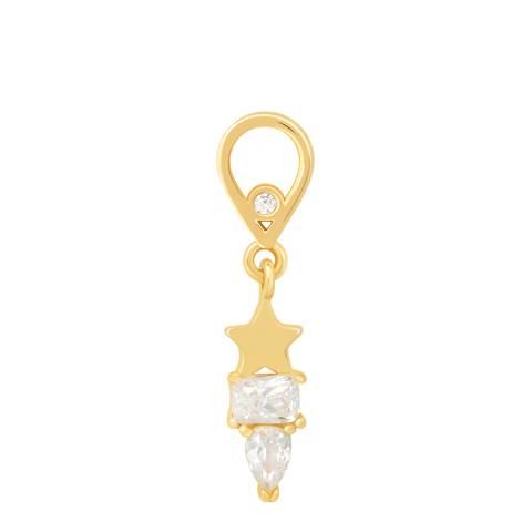 Astrid & Miyu Gold Star & Stones Earring Charm