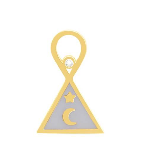 Astrid & Miyu Gold Triangle & Enamel Earring Charm