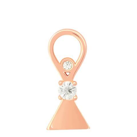 Astrid & Miyu Rose Gold Triangle & Stones Earring Charm