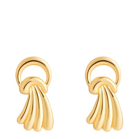 Astrid & Miyu Gold Waterfall Stud Earrings