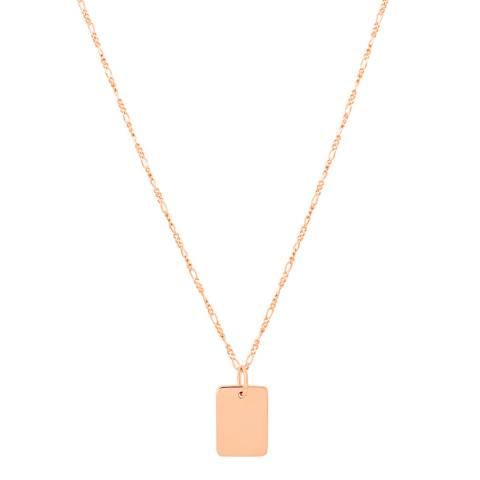 Astrid & Miyu Rose Gold Basic 2.0 Large ID Necklace