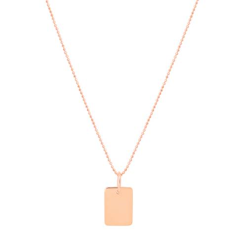 Astrid & Miyu Rose Gold Basic 2.0 Medium ID Necklace