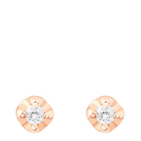 Astrid & Miyu Rose Gold Basic Diamond Stud Earring 2.0