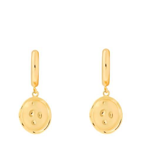 Astrid & Miyu Gold Coin Pendant Chunky Hoops