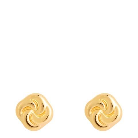 Astrid & Miyu Gold Knot Stud Earrings