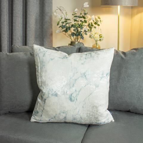 Ashley Wilde Cinnabar Cushion 50 x 50cm in Seagreen and Eau De Nil