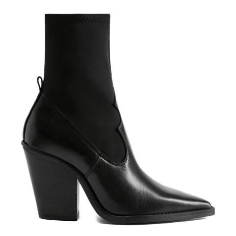 Mango Black Rota Heeled Ankle Boots