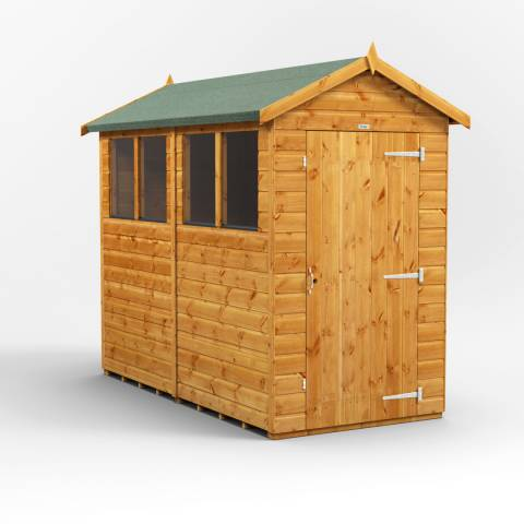 Power Sheds 8x4 Power Apex Garden Shed
