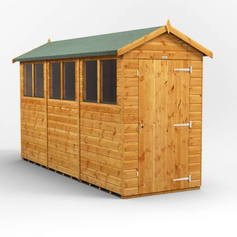 Power Sheds 12x4 Power Apex Garden Shed