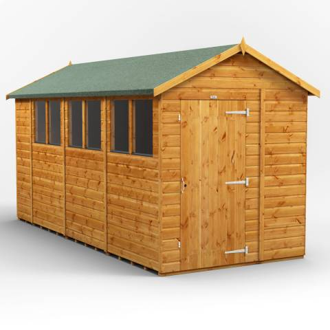 Power Sheds 14x6 Power Apex Garden Shed
