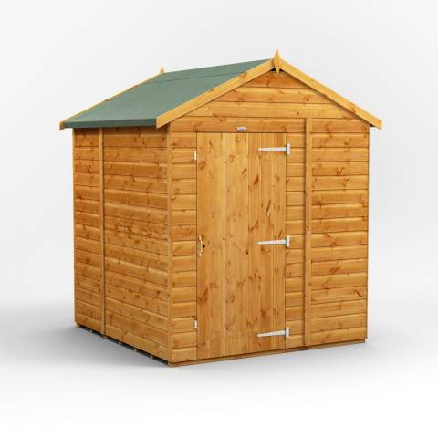 Power Sheds 6x6 Power Windowless Apex Garden Shed